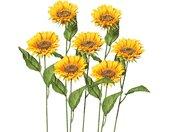 Creativ green Kunstblume, Höhe 66 cm, 7er Set, gelb