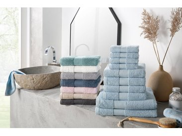 my home Handtuch Set »Ally« (Set, 10-tlg), in dezenten Unifarben, natur, taupe