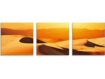 Artland Glasbild »Dünen«, Wüste (3 Stück), 3 St.