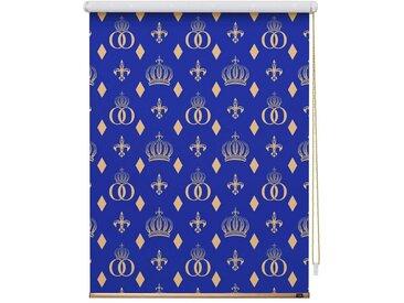 POMPÖÖS by Lichtblick Seitenzugrollo »Verdunkelungsrollo Klemmfix«, verdunkelnd, ohne Bohren, freihängend, bedruckt, blau, blau