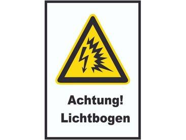HB-Druck Metallschild »1559 Achtung Lichtbogen Schild«, 2mm Aluminiumverbundpaltte mit Digitaldruck und Schutzlaminat, nichtklebend