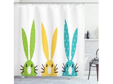 Abakuhaus Duschvorhang »Moderner Digitaldruck mit 12 Haken auf Stoff Wasser Resistent« Breite 175 cm, Höhe 180 cm, Hase Bunte Half Face Kaninchen