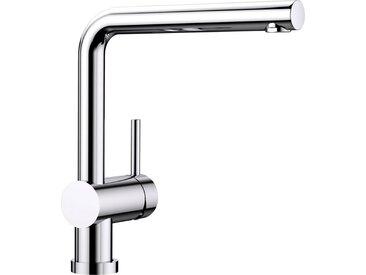 Blanco BLANCO Küchenarmatur »LINUS-F«, Hochdruck, mit herausnehmbarer Vorfensterarmatur, silberfarben, Strahl nicht umschaltbar, Bedienhebel rechts