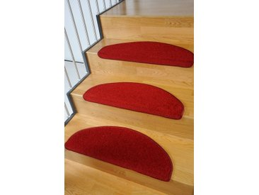 Living Line Stufenmatte »Trend«, halbrund, Höhe 8 mm, 15 Stück, große Farbauswahl, Velours, rot, rot