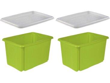 keeeper Stapelbox »emil« (Set, 2 Stück), grün, grün