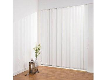 Liedeco Lamellenvorhang »Lamellenvorhang Vertikalanlage perlex - 127 mm Lamelle«, freihängend, Kürzbare Vertikalanlage Perlex, weiß, weiß