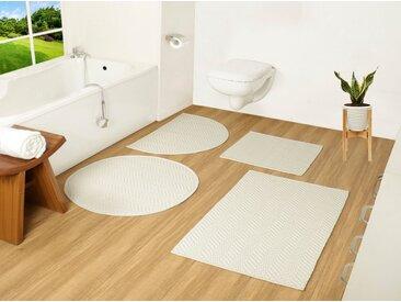 COUCH♥ Badematte »Badesache« , Höhe 4 mm, Badgarnitur, 100% Baumwolle, COUCH Lieblingsstücke, weiß, weiß