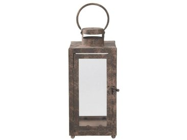 Clayre & Eef Laterne » Laterne Braun 13*13*30 cm Eisen /Glas«