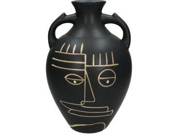 Engelnburg Dekovase » Vase Blumenvase Gesicht Steinzeug Schwa«