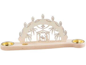 SAICO Original Mini-Lichterbogen Christi Geburt für 2 Teelichte, natur, Natur