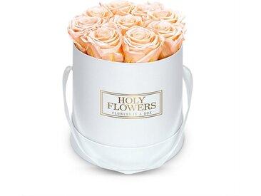 Holy Flowers Kunstblume » Rosenbox weiß mit 8 - 10 Infinity Rosen I 3 Jahre haltbar I Echte, duftende konservierte Blumen I by Raul Richter« Rose, Höhe 15 cm