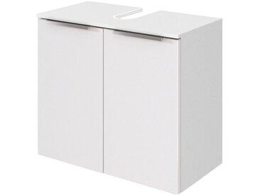 HELD MÖBEL Waschbeckenunterschrank »Matera Unterbeckenschrank«, Breite 60 cm, inklusive Ausschnitt für Siphon, weiß, weiß