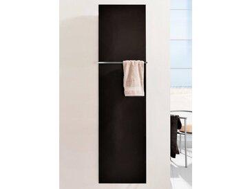 SZ METALL Heizkörper »Mirror Steel 18«, mit Handtuchhalter, schwarz, schwarz