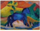 Artland Glasbild »Blaues Pferdchen Kinderbild. 1912.«, Tiere (1 Stück), bunt