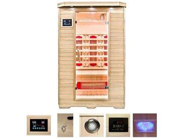 HOME DELUXE Infrarotkabine »Redsun M«, 120/105/190 cm, 40 mm, für bis zu 2 Personen, natur, natur
