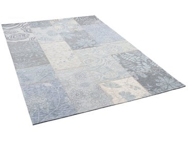 Pergamon Designteppich »Luxus Vintage Designerteppich Patchwork Grau«, Rechteckig, Höhe 5 mm