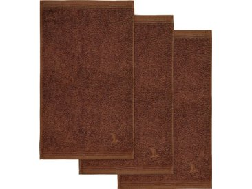 Möve Gästehandtücher »Superwuschel« (3-St), in kräftigen Farben, braun, java brown