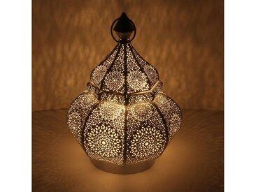 Casa Moro Laterne »Orientalische Laterne aus Metall Abir Schwarz 30cm, Marokkanisches Windlicht Gartenlaterne, hängend oder stehend, Schöne Tischlaterne für Hochzeit Feier Dekoration