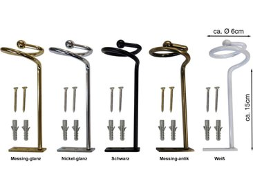 indeko Drapierhaken »Drapierhaken«, Vorhänge, (2-tlg), 2 Stück, goldfarben, antik-messingfarben