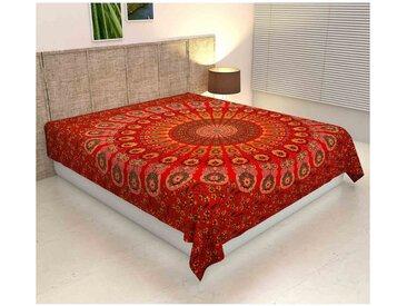 Casa Moro Bettüberwurf »Doppelbett Überwurf Mandala Amba 220x240 cm, Wanddekoration Tagesdecke dekorativer Wandteppich Boho-Stil, «, MA6906, grün