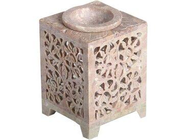 Casa Moro Duftlampe »Orientalische Duftlampe Shiva-1 aus Soapstone geschnitzt 8x8x11 cm (B/T/H) ätherisches Öl Diffusor, Teelicht-Halter für Aromatherapie