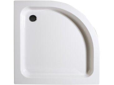 Schulte Duschwanne, rund, Sanitäracryl, 4 tlg., flach, inkl. Schürze und Ablaufgarnitur