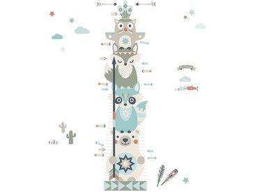 anna wand Wandsticker »Messlatte Little Indians blau/rot/beige«