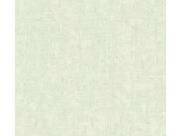 A.S. Création Vliestapete »Greenery Uni in Vintage Optik«, uni, grün, grün-hellgrün
