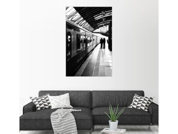 Posterlounge Wandbild, S-Bahn Berlin Schwarz Weiß Foto, Premium-Poster