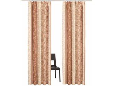 my home Vorhang »Gosen«, Kräuselband (2 Stück), natur, creme-sand