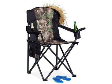 relaxdays Campingstuhl »Campingstuhl mit 2 Getränkehaltern«