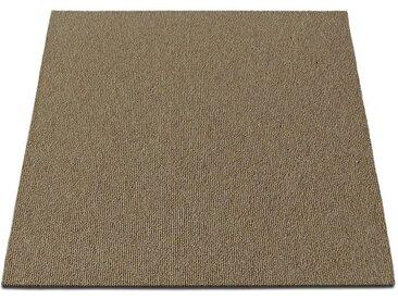 casa pura Teppichfliese »Lyonn«, quadratisch, Höhe 6 mm, Selbstliegend, natur, Beige