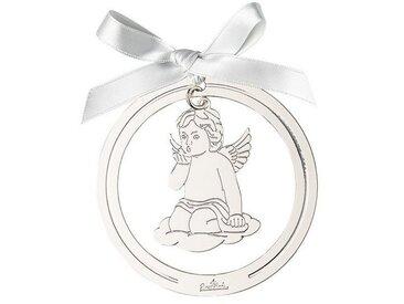 Rosenthal Christbaumschmuck »Silver Collection Angels Silver Engel Anhänger rund« (1-tlg), Engel mit Handkuss