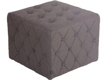 CLP Sitzwürfel »Nashville Stoff«, gepolstert, grau, dunkelgrau