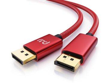 Primewire 8K DisplayPort auf DisplayPort Kabel »DP1.4 / 8K: 7680x4320 @ 60 Hz«, rot, rot