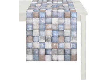 APELT Tischläufer »1106 Herbstzeit« (1-tlg), Digitaldruck, blau, blau-beige