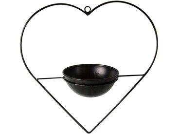 Parts4Living Blumenampel »Metall Herz mit Pflanztopf zum Aufhängen Skandi schwarz« (1 Stück)