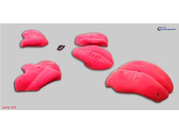 Move it Climbingholds Kletterwand »Klettergriffe Jump XXL - Move-it-Climbingholds«, rot, rot