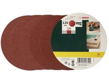 BOSCH Schleifblatt 25-tlg., für Exzenterschleifer, Ø 125 mm, Körnung 120, grün, grün