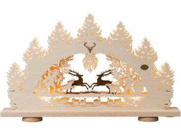 SAICO Original 3D-Lichterbogen Springende Hirsche, 10flammig elektrisch beleuch, natur, Natur