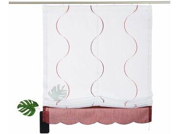 my home Raffrollo »Tayma«, mit Klettband, weiß, weiß-marsala