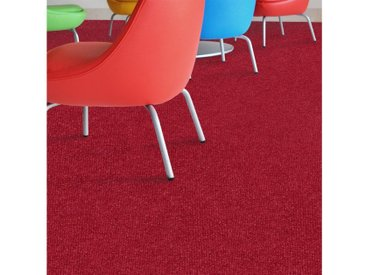 Floordirekt Teppichboden »Malta«, rechteckig, Höhe 3 mm, Nadelfilz, rot, Dunkelrot