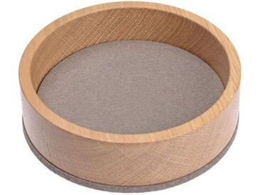HEY-SIGN Organizer »Ablageschale Bowl Ø 13,5 cm aus Filz/Holz; Taschenleerer, Schlüsselablage, Schmuckablage; Made in Germany«, braun, Taupe