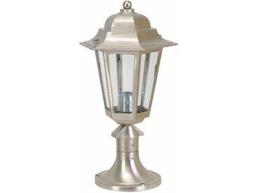 Licht-Erlebnisse Sockelleuchte »PRESPES Gartenlampe PRESPES aus Messing in Nickel IP43 rostfrei robust«