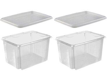 keeeper Stapelbox »emil« (Set, 2 Stück), weiß, transparent
