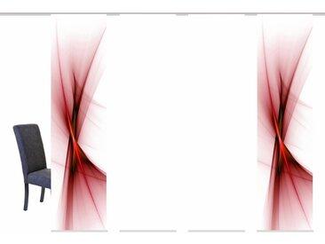 HOME WOHNIDEEN Schiebegardine »OLE«, Klettband (4 Stück), HxB: 245x60, inkl. Befestigungszubehör, rot, rot