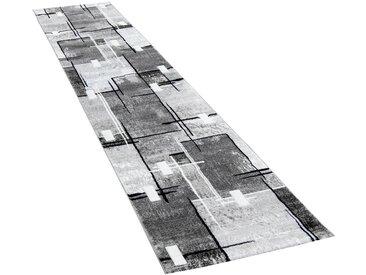 Paco Home Läufer »Florenz«, rechteckig, Höhe 16 mm, Designer Teppich mit Konturenschnitt, grau, grau