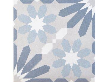 Casa Moro Fliesenaufkleber » Marokkanische Keramik-Fliesen Nasib 20x20 cm 1 qm Feinsteinzeug mit Zementoptik, Frostsichere Bodenfliesen & Wandfliesen im Bad & Küche