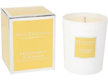 Max Benjamin Duftkerze »Lemongrass & Ginger; Wohlduftende Kerze in dekorativem Glas«