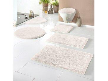 Home affaire Badematte »Maren« , Höhe 15 mm, rutschhemmend beschichtet, fußbodenheizungsgeeignet, Bio-Baumwolle, natur, creme